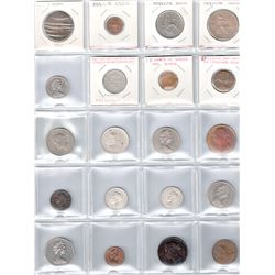 BRITISH COMMONWEALTH: LOT of 34 coins, retail value $450