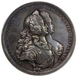 DENMARK: Christian VI, 1730-1746, AR medal (83.34g), 1745. EF