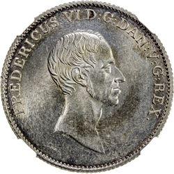 DENMARK: Frederik VI, 1808-1839, AR speciedaler, 1839. NGC MS63