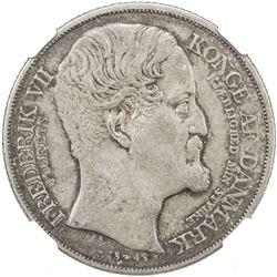 DENMARK: Frederik VII, 1848-1863, AR speciedaler, 1848. NGC EF45
