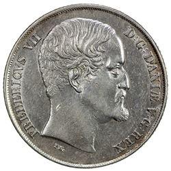 DENMARK: Frederik VII, 1848-1863, AR speciedaler, 1853. EF