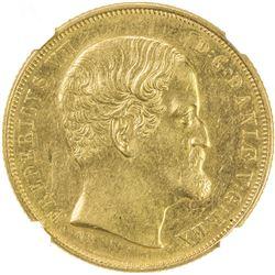 DENMARK: Frederik VII, 1848-1863, AV 2 frederiks d'or, 1857. NGC AU55