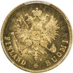 FINLAND: Nicholas II, 1894-1917, AV 10 markkaa, 1913. PCGS MS66