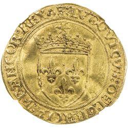 FRANCE: Louis XII, 1498-1515, AV ecu d'or au soleil (3.30g), Lyon mint. NGC AU53