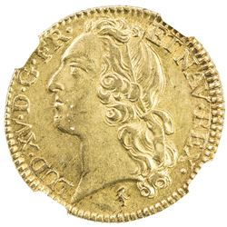 FRANCE: Louis XV, 1715-1774, AV louis d'or, Lille mint, 1746-W. NGC AU58