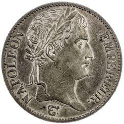 FRANCE: Napoleon I, Emperor, 1804-1814, AR 5 francs, Utrecht, 1812. AU