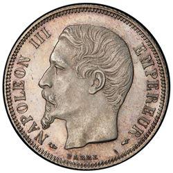 FRANCE: Napoleon III, 1852-1870, AR franc, 1855-A. PCGS MS64