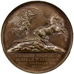 FRANCE: Napoleon, as First Consul, 1799-1804, AE medal, 1800. NGC MS64