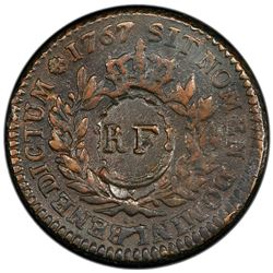 FRENCH COLONIES: First Republic, AE 3 sols 9 deniers, ND [1793]. PCGS EF45