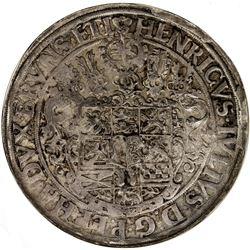 BRUNSWICK-WOLFENBUTTEL: Heinrich Julius, 1589-1613, AR thaler, Goslar, 1607. NGC AU55