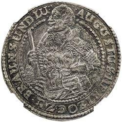 BRUNSWICK-WOLFENBUTTEL: August, the Younger, 1635-1666, AR 1/2 glockenthaler, Zellerfeld, 1643. NGC