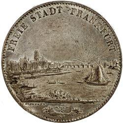 FRANKFURT AM MAIN: Free City, AR 2 thaler, 1843. ANACS AU55