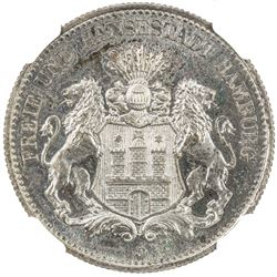 HAMBURG: Free and Hanseatic City, AR 2 mark, 1905-J. NGC PF65