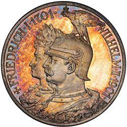 PRUSSIA: Wilhelm II, 1888-1918, AR 2 mark, 1901. PCGS PF65