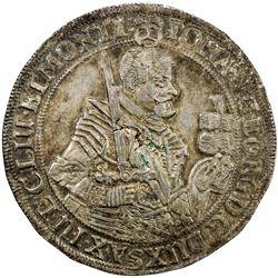 SAXONY: Johann Georg I, alone, 1615-1656, AR thaler (29.05g), 1632. EF-AU