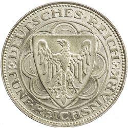 GERMANY: Weimar Republic, AR 5 reichsmark, 1927-A. ANACS MS62
