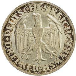 GERMANY: Weimar Republic, AR 3 reichsmark, 1928-D. UNC