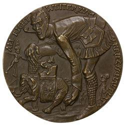 GERMANY: AE medal (55.75g), 1914. EF