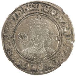 ENGLAND: Edward VI, 1547-1553, AR shilling, London, ND (1551-1553). NGC F