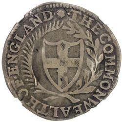 ENGLAND: Commonwealth, AR shilling, 1651. NGC F