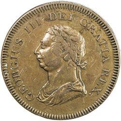 GREAT BRITAIN: George III, 1760-1820, AE die trial (36.30g), ND (ca. 1805). VF-EF