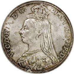 GREAT BRITAIN: Victoria, 1837-1901, AR crown, 1892. PCGS MS63
