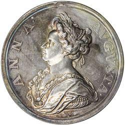GREAT BRITAIN: Anne, 1702-1714, AR medal (44.23g), 1710. EF