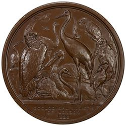 GREAT BRITAIN: AE medal (238.9g), 1826. UNC