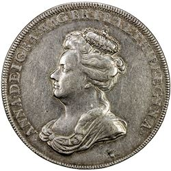 GREAT BRITAIN: Anne, 1702-1714, AR medal (18.16g), 1702. VF