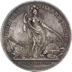 GREAT BRITAIN: George II, 1727-1760, AR medal (20.61g), 1736. EF