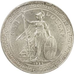 GREAT BRITAIN: George V, 1910-1936, AR trade dollar, 1929/1-B. PCGS MS63