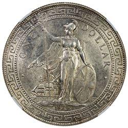 GREAT BRITAIN: George V, 1910-1936, AR trade dollar, 1929-B. NGC MS62