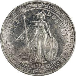 GREAT BRITAIN: George V, 1910-1936, AR trade dollar, 1929/1-B. PCGS AU