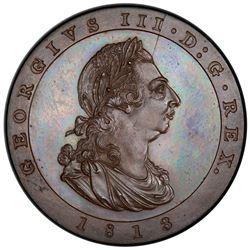ISLE OF MAN: George III, 1760-1820, AE penny, 1813. PCGS PF65