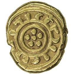 SICILY: Frederick II of Hohenstaufen, 1197-1250, AV tari (2.61g), Messina. VF