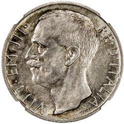 ITALY: Vittorio Emmanuele III, 1900-1946, AR 10 lire, 1930-R. NGC MS62