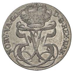 NORWAY: Frederik V, 1746-1766, AR 24 skilling, 1747. VF-EF