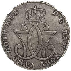 NORWAY: Christian VII, 1766-1808, AR speciedaler, Kongsberg mint, 1778. NGC EF45