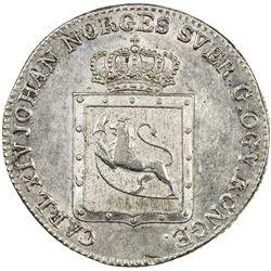 NORWAY: Carl XIV Johan, 1818-1844, AR 24 skilling, 1819. EF