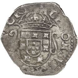 PORTUGAL: Alfonso VI, 1656-1683, AR tostao (4.27g), ND [1663]. NGC EF45