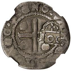 PORTUGAL: Afonso VI, 1656-1683, AR 100 reis (3.53g), ND [1663]. NGC F12