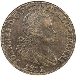 PORTUGAL: Joao, as Prince Regent, 1799-1816, AE 40 reis, 1812. NGC AU55