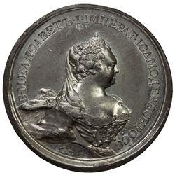 RUSSIAN EMPIRE: Elizabeth, 1741-1761, medal (61.99g), 1742. EF-AU