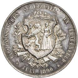 THURGAU: Canton, AR medal (38.6g), 1890. AU