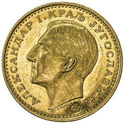 YUGOSLAVIA: Alexander I, 1921-1934, AV ducat (3.50g), 1931. BU
