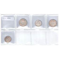 BRITISH WEST AFRICA: LOT of 4 silver coins, retail value $450