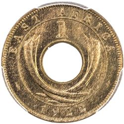 EAST AFRICA & UGANDA: George V, 1910-1936, AE cent, 1922-H. PCGS SP65