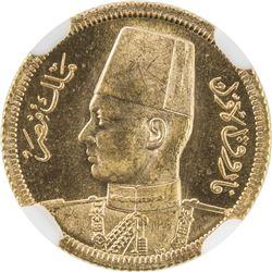 EGYPT: Farouk, 1936-1952, AV 20 piastres, AH1357/1958. NGC MS65