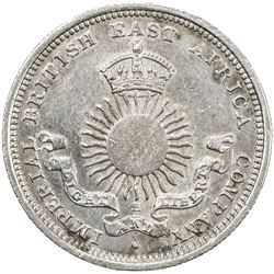 MOMBASA: Victoria, 1888-1896, AR 1/4 rupee (4 annas), 1890-H. AU