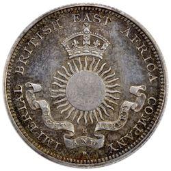 MOMBASA: Victoria, 1888-1896, AR 1/2 rupee (8 annas), 1890-H. PCGS MS62